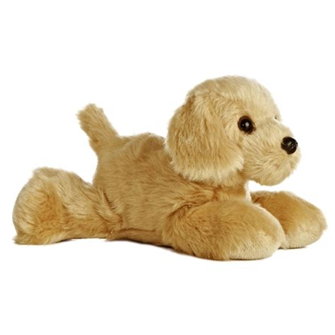 golden retriever with stuffed animal golden the stuffed golden retriever plush mini flopsie by