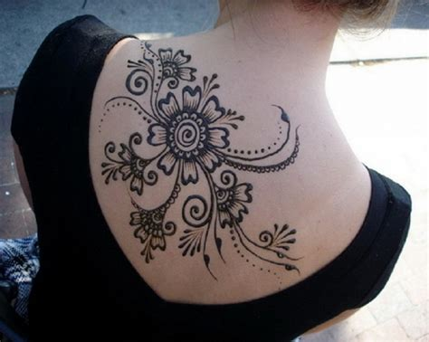 big henna tattoos large black henna on back inofashionstyle