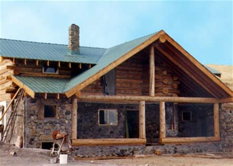 Small Cabins Floor Plans stone amp log home construction