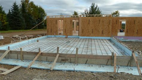 Sunroom Plans garage rebar interior wall framing radiant heat quadomated