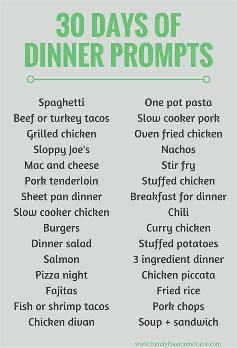 printable healthy dinner recipes 30 easy healthy family dinner ideas family food on the table