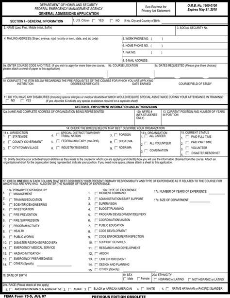 fema application form fema application form free premium templates