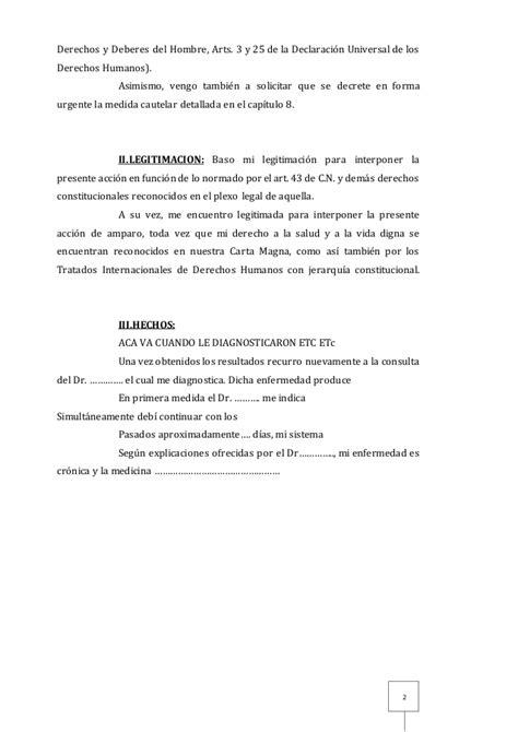 discapacidad y salud programa federal de salud profe modelo de promueve acci 243 n de amparo contra obra social con