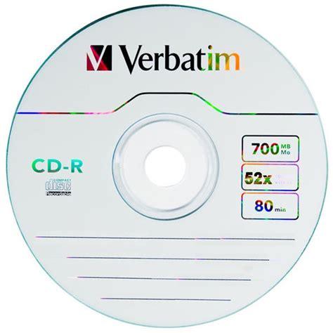 Cd R 52x 700 Mb Verbatim Single Pack Silver 1 cd r 80 min 700 mb verbatim 52x datalifeplus in jewelbox 50 pack