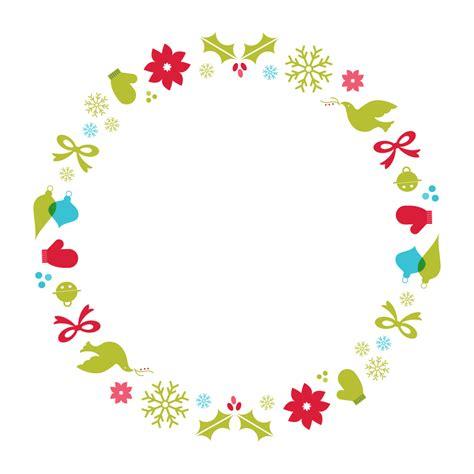 design art border christmas wreath clip art clip art christmas 1