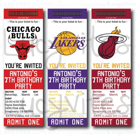 Nba Ticket Template Free Printable Ticket Stub Invitation