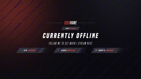 187 Twitch Overlay Template 002 Twitch Overlay Maker Twitch Offline Banner Template
