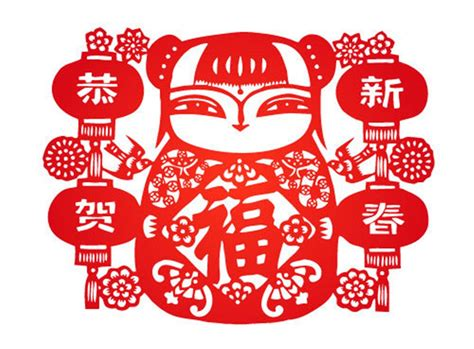 new year paper cutting crafts 中国新年传统文化图片 素材公社 tooopen