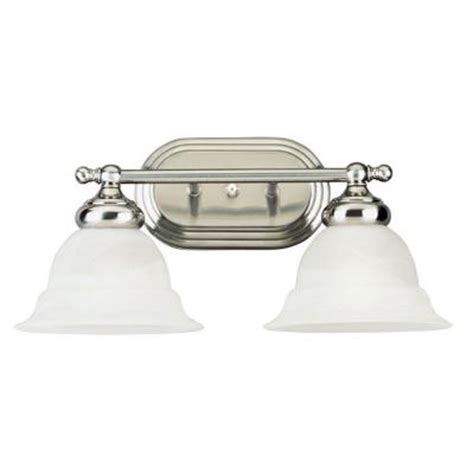 Home Depot Interior Light Fixtures Westinghouse 2 Light Brushed Nickel Interior Wall Fixture With Frosted White Alabaster Glass