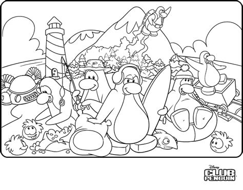 coloring pages club penguin cheats secrets tips more