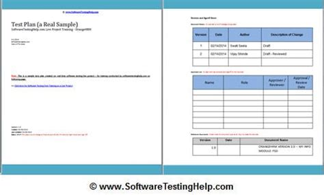 testplan template test plan tutorial a guide to write a software test plan
