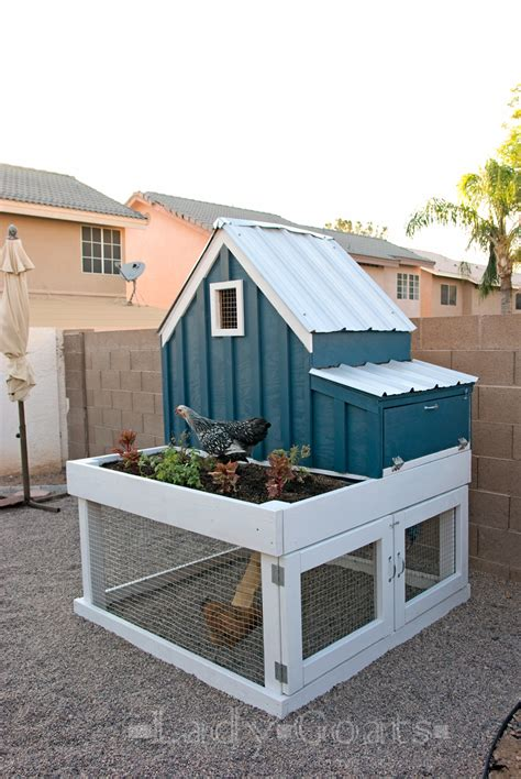 ana white small chicken coop with planter clean out tray and nesting box diy projects