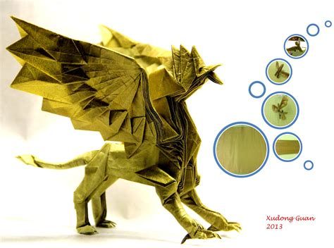 origami gryphon tutorial character origami images craft decoration ideas