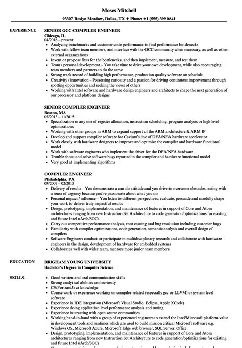 compiler engineer resume sles velvet jobs