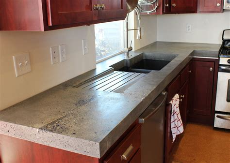 Polished Concrete Countertops Ideas Home Inspirations Design Concrete Kitchen Countertops