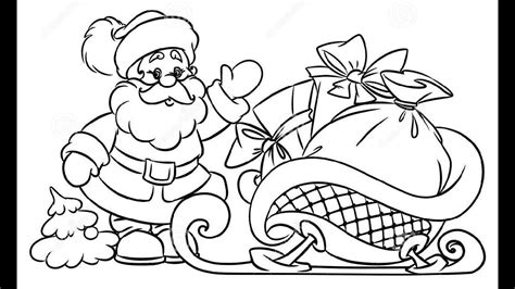 best drawi g of santa clause with chrisamas tree how to draw santa claus gifts illustration