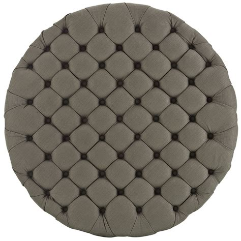 tufted fabric ottoman modway amour large round upholstered tufted fabric ottoman