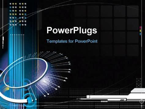 powerpoint template high tech infinity concept with black