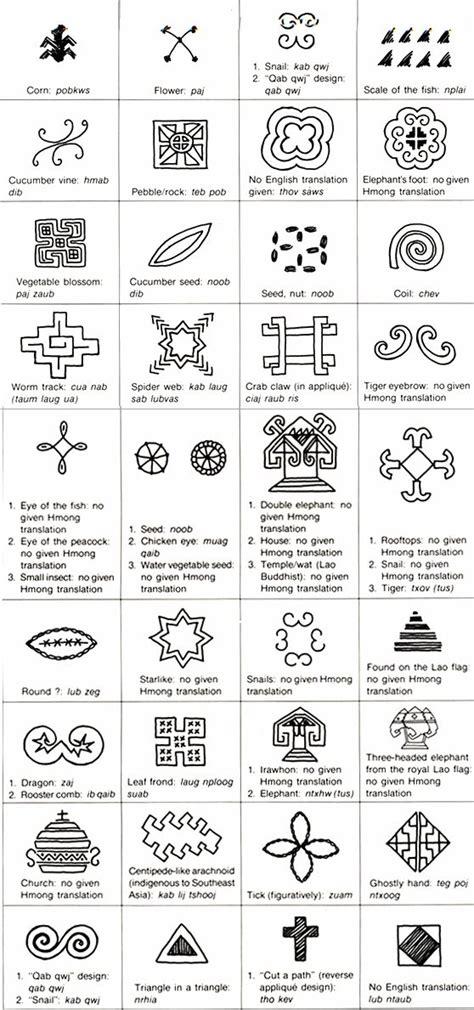 pattern symbol meanings hmong symbols weaving symbols motifs pinterest