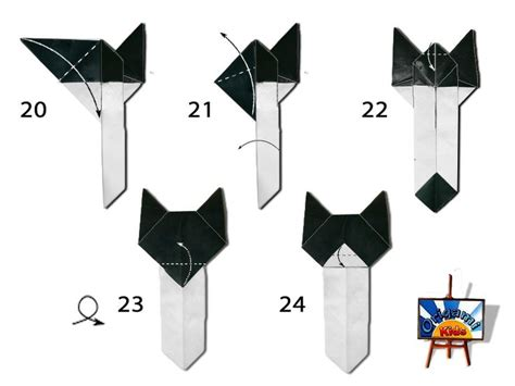 Origami Cat Bookmark - 10 best easy cat bookmark photo diagram images on