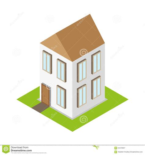 isometric home house 3d flat building stock vector image
