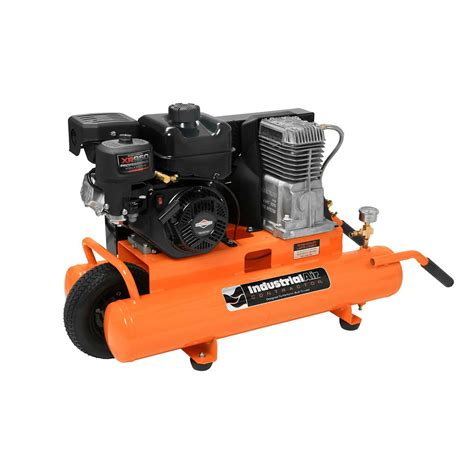 industrial air 8 gallon 130 psi portable gas powered air compressor the home depot canada