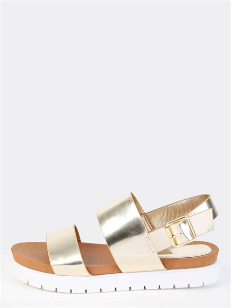 metallic flatform sandals metallic patent flatform sandals gold