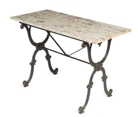 A Red White And Grey Mottled Marble And Cast Iron Patio Tab Cast Iron Patio Table