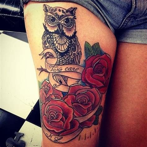 colorful thigh tattoos thigh colorful for tattoos