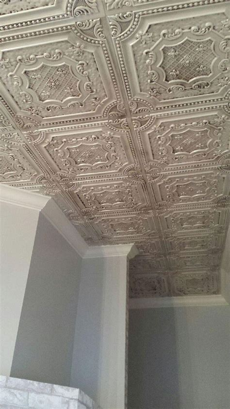 how to tile a ceiling 25 best ideas about tin tiles on cheap wall