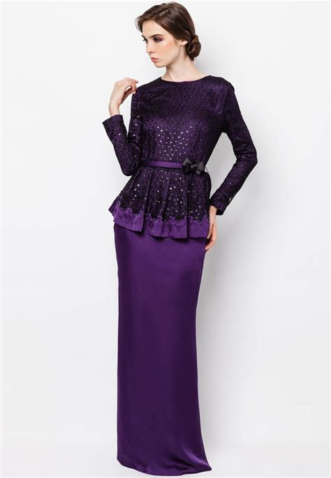 Baju Peplum purple peplum baju kurung kebaya baju kurung