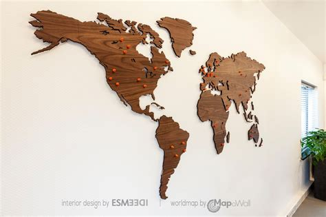 Map Of The World Wooden by World Map Walnut As Office Decoration Woodenworldmap