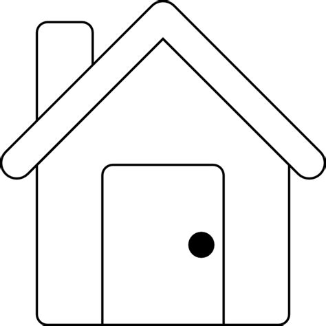 house outline clip art at clker com vector clip art