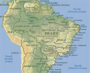 Latin America Physical Features Map by Latinamerica Brazil Geography