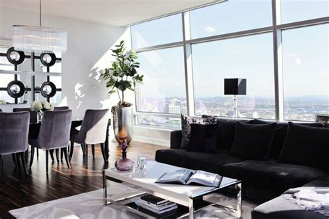glamorous contemporary living in los angeles idesignarch modern glam luxury condo modern living room los