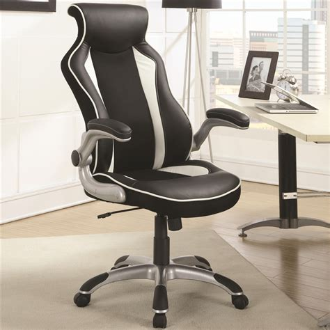 white high back office chair contemporary black white high back office chair coaster