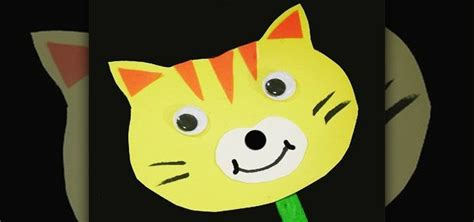 How To Make Paper Puppets At Home - how to make a simple paper cat stick puppet with your