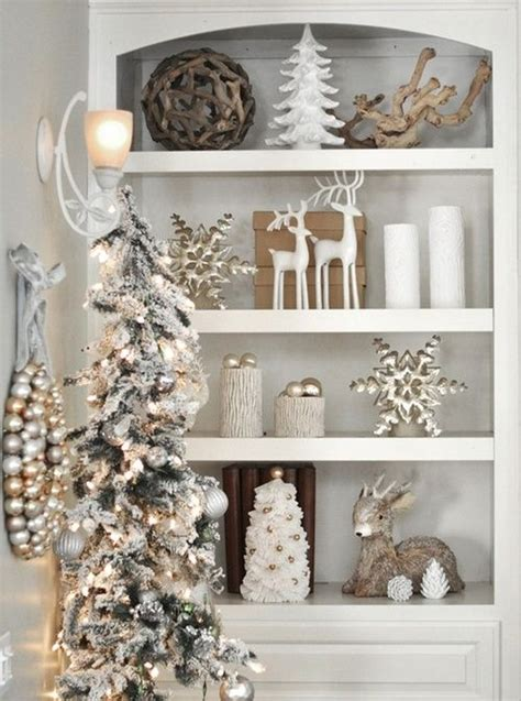 christmas decor shelf could do this with the vintage