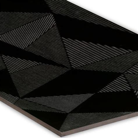 dekor wandfliesen wandfliese struktur fracture dekor schwarz 30x80cm
