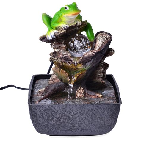 frog home decor frog water fountain table decor home accents decor
