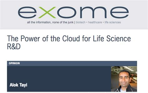 new powered by articlems from articletrader life science xconomy quot the power of the cloud for life science r d