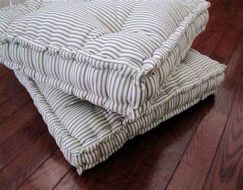 white floor cushion ticking floor pillow tufted floor cushion with