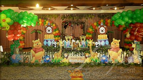 jungle theme birthday decoration ideas tulipsevent best jungle safari zoo themed birthday