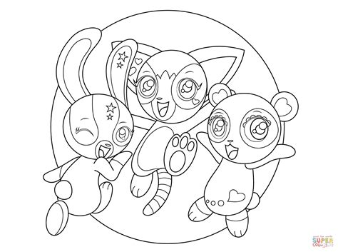 zoobles coloring page free printable coloring pages