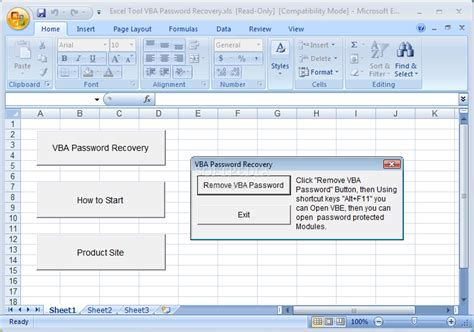 remove vba password on excel wo rking vba password recovery 12 k e y gen inside