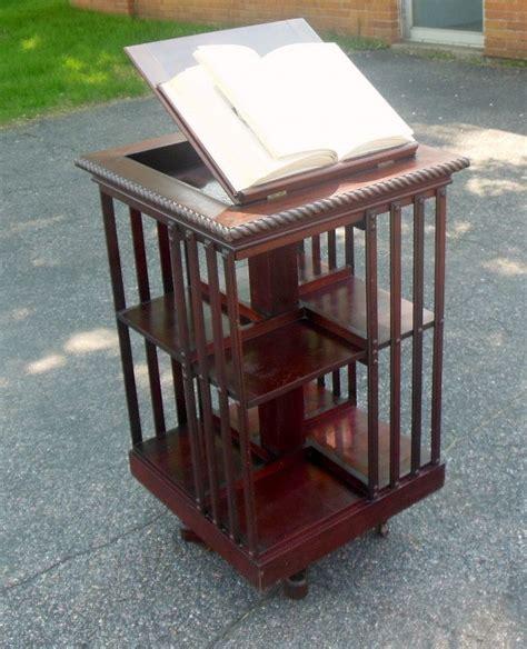 Revolving Bookcase by Antique Danner Mahogany Revolving Bookcase Lectern