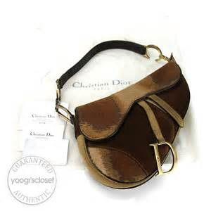 Christian Designer Christian Limited Edition Saddle Bags by Christian Limited Edition Pony Hair Saddle Bag