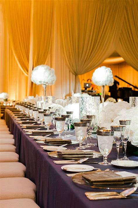 eggplant colored table linens 1000 images about wedding draping on