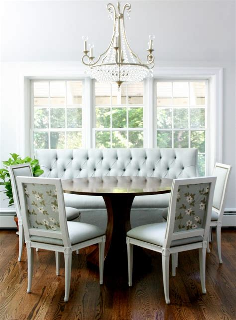 dining benches and banquettes furniture photos hgtv upholstered curved dining banquette