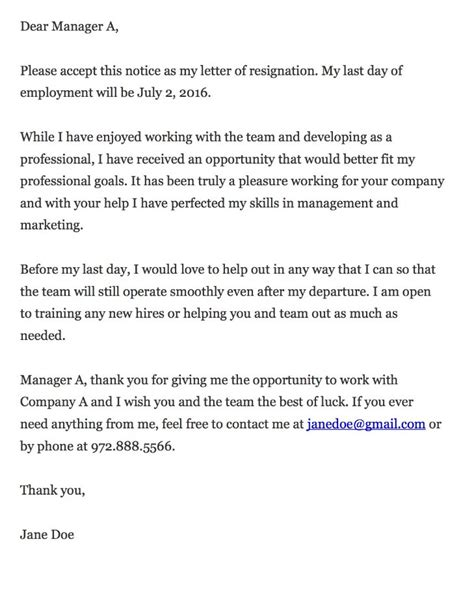 World Best Letter Of Resignation Thankful Resignation Letter